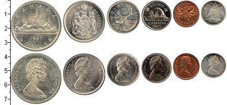 Изображение Подарочные монеты Канада Канада-1965 1965  UNC Годовой набор монет