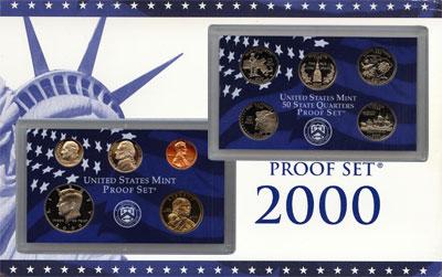 Изображение Подарочные наборы США Набор монет 2000 года в качестве proof 2000 Медно-никель Proof Подарочный набор пру