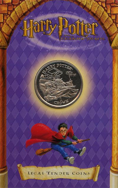 Изображение Подарочные монеты Остров Мэн Гарри Поттер 2002 Медно-никель UNC-