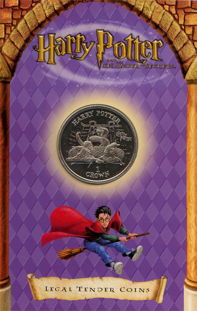 Изображение Подарочные монеты Остров Мэн 1 крона 2002 Медно-никель UNC Подарочная монета по