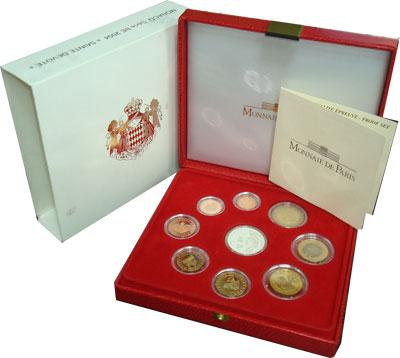 Изображение Подарочные наборы Монако Евронабор 2004 2004  Proof Подарочный евронабор