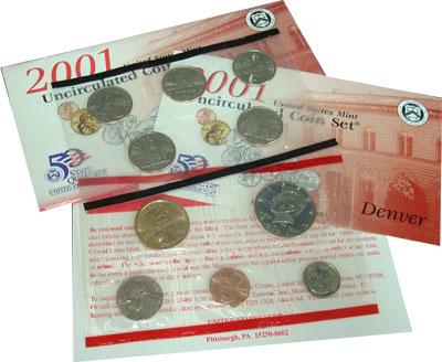 Изображение Подарочные монеты США США 2001 2001  UNC- Годовой набор монет.