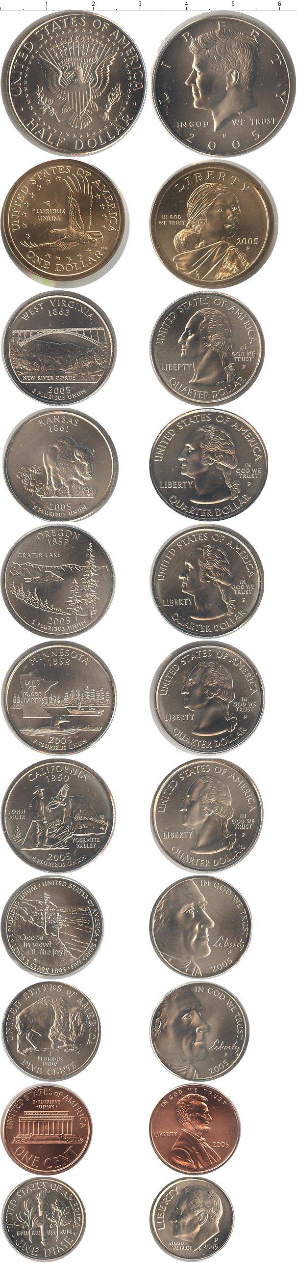 Подарочный набор монет сша сша 2005 - 2005 год.