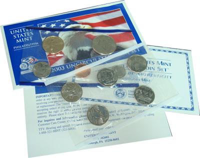 Изображение Подарочные монеты США США 2003 2003  UNC- Годовой набор монет.