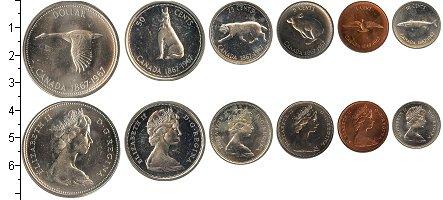 Изображение Подарочные монеты Канада Выпуск монет 1967 1967  UNC В наборе 6 монет