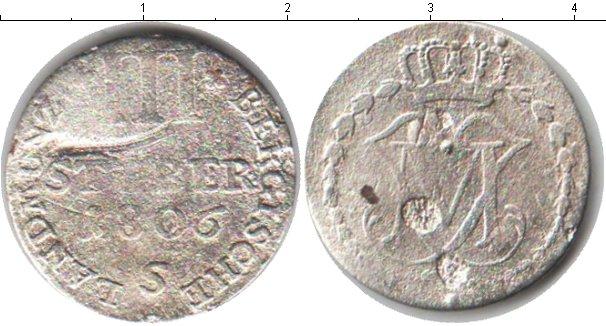 Картинка Монеты Берг 3 стюбера Серебро 1806