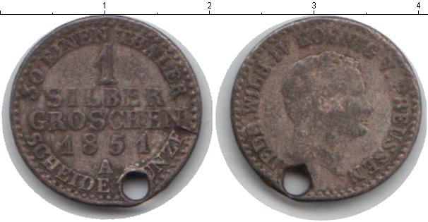 Картинка Монеты Пруссия 1 грош Серебро 1851
