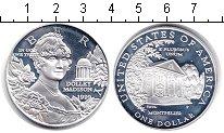 Изображение Мелочь США 1 доллар 1999 Серебро Proof Долли Мэдисон