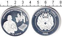 Изображение Монеты Тонга 1 паанга 1993 Серебро Proof- Иоганн Гутенберг