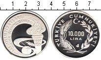 Изображение Монеты Турция 10.000 лир 1988 Серебро Proof- Летние Олимпийские и