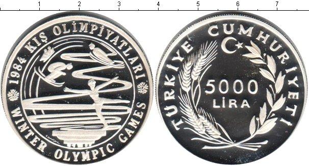 Картинка Монеты Турция 5.000 лир Серебро 1984