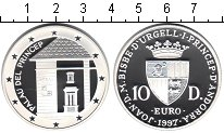 Изображение Монеты Андорра 10 динерс 1997 Серебро Proof- Дворец