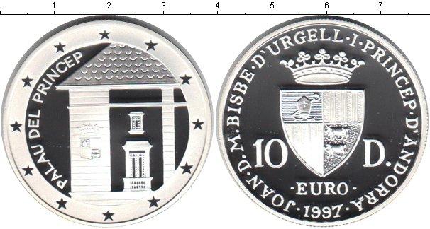 Картинка Монеты Андорра 10 динерс Серебро 1997