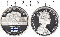 Изображение Монеты Гибралтар 5 фунтов 2004 Серебро Proof Страны-участницы оли