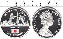 Изображение Монеты Великобритания Гибралтар 5 фунтов 2004 Серебро Proof