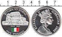 Изображение Монеты Гибралтар 5 фунтов 2005 Серебро Proof Страны-участницы оли