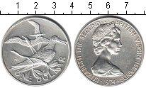 Изображение Монеты Виргинские острова 1 доллар 1974 Серебро XF