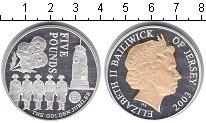 Изображение Монеты Остров Джерси 5 фунтов 2003 Серебро Proof- Елизавета II. Золото