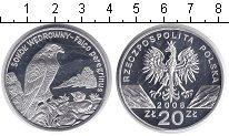 Изображение Мелочь Польша 20 злотых 2008 Серебро Proof- Сокол