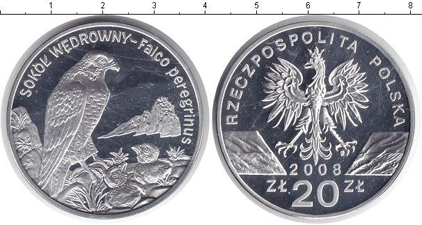 Картинка Мелочь Польша 20 злотых Серебро 2008