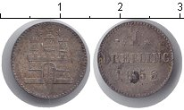 Изображение Монеты Гамбург 1 дрейлинг 1855 Серебро XF