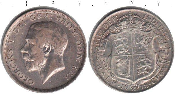 Картинка Монеты Великобритания 1/2 кроны Серебро 1918
