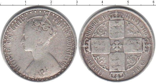 Картинка Монеты Великобритания 1 флорин Серебро 0