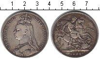 Изображение Монеты Великобритания 1 крона 1890 Серебро VF Виктория