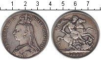 Великобритания 1 крона 1892 Серебро