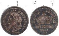 Изображение Монеты Франция 20 сентесим 1867 Серебро VF Наполеон III