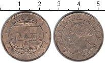 Изображение Монеты Ямайка 1/2 пенни 1869 Медно-никель XF Виктория