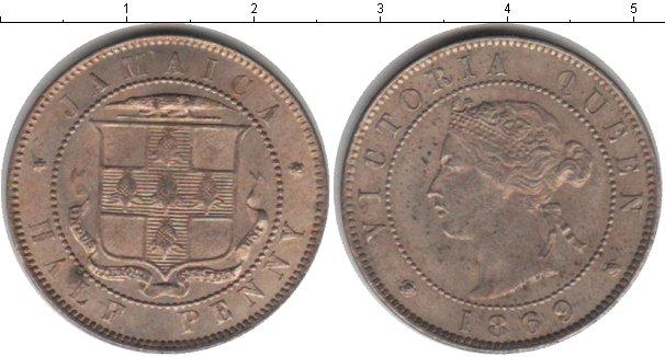Картинка Монеты Ямайка 1/2 пенни Медно-никель 1869