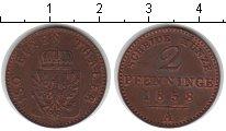 Изображение Монеты Германия Пруссия 2 пфеннига 1858 Медь XF