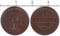 Изображение Монеты Ганновер 1 пфенниг 1862 Медь XF