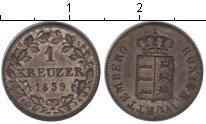 Изображение Монеты Вюртемберг 1 крейцер 1839 Серебро XF