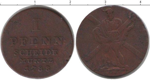 Картинка Монеты Брауншвайг-Люнебург-Каленберг-Ганновер 1 пфенниг Медь 1783