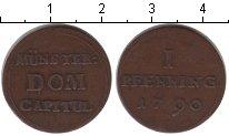 Изображение Монеты Мюнстер 1 пфенниг 1790 Медь XF
