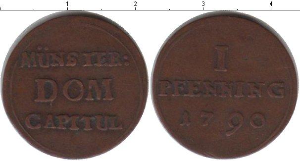 Картинка Монеты Мюнстер 1 пфенниг Медь 1790