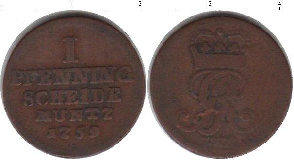 Картинка Монеты Ганновер 1 пфенниг Медь 1759