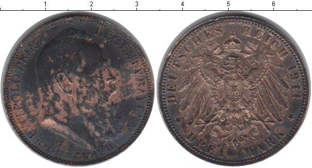 Картинка Монеты Бавария 3 марки Серебро 1911