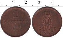Изображение Монеты Ганновер 2 пфеннига 1851 Медь XF В