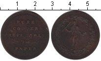 Изображение Монеты Великобритания 1/2 пенни 0 Медь VF Токен