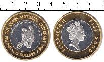 Изображение Монеты Фиджи 10 долларов 2000 Серебро Proof- Елизавета II. Юнная