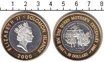 Изображение Монеты Соломоновы острова 10 долларов 2000 Серебро Proof- Елизавета II. Осмотр