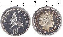 Изображение Монеты Великобритания 10 пенсов 2000 Серебро Proof-