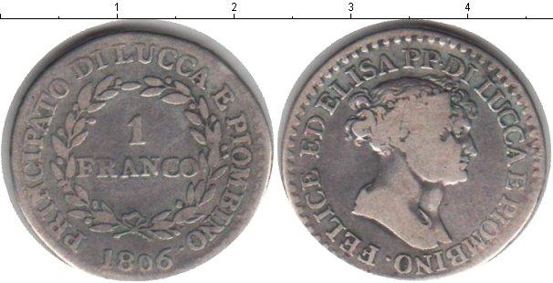 Картинка Монеты Лукка 1 франко Серебро 1806
