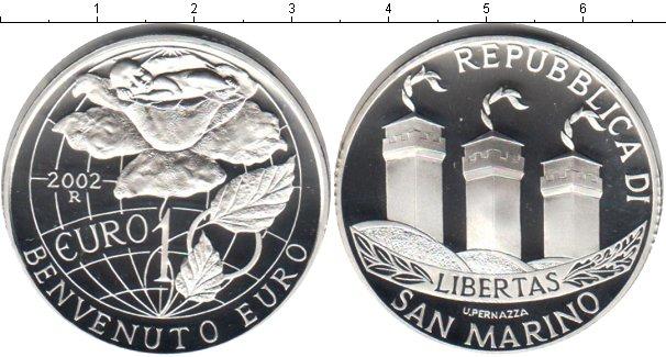 Картинка Монеты Сан-Марино 1 евро Серебро 2002