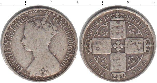 Картинка Монеты Великобритания 1 флорин Серебро 1873
