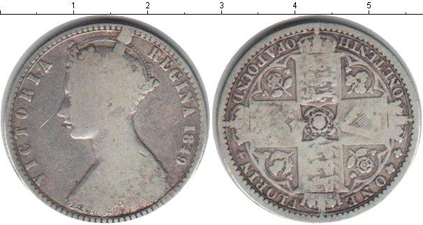 Картинка Монеты Великобритания 1 флорин Серебро 1849