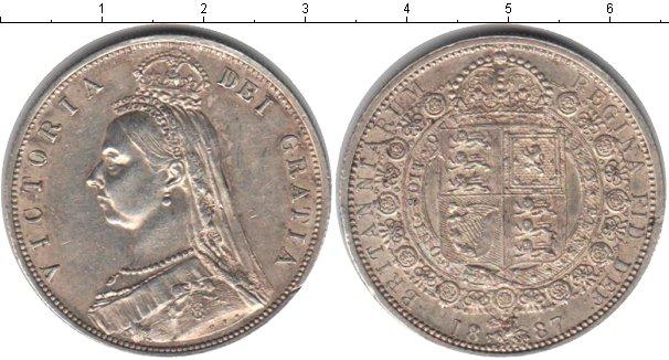 Картинка Монеты Великобритания 1/2 кроны Серебро 1887
